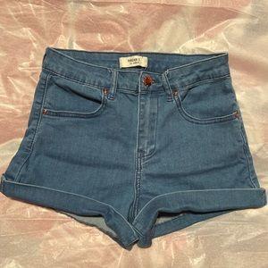 Medium Washed Shorts